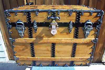 CA Taylor Antique Trunk, Restored, GORGEOUS, FREE SHIPPING