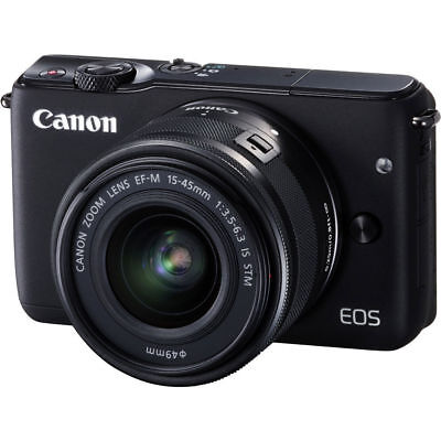 Canon EOS M10 Mirrorless Digital Camera with 15-45mm EF-M IS STM Lens Black New