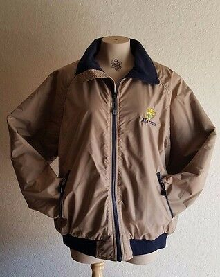 Mens HARTWELL Brown  Zip Front Quilted Lining MARINES Bomber Jacket Coat Sz XL