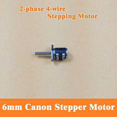 10Pcs Micro 2 Phase 4 Wire Stepper Motor With Thread Rod 6mm Canon Camera DIY