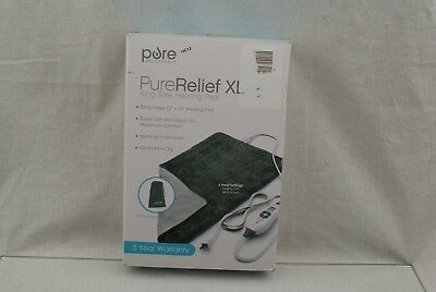 PureRelief XL - King Size Heating Pad Fast-Heating 6 Temperature setting 19E7