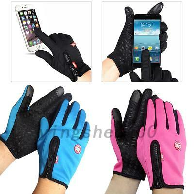 Touch Screen Thermal Driving Gloves Waterproof Bike Motorcycle Cycling M-XL