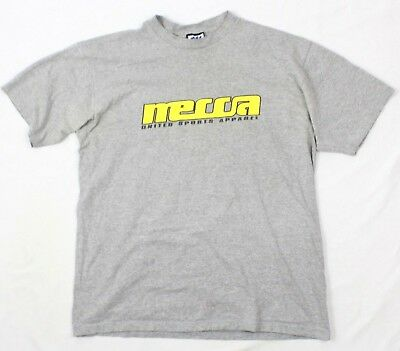 5c35179f 80s MECCA Men Spell Out Tshirt Gray Short Sleeve VINTAGE Extra Large MADE  IN USA