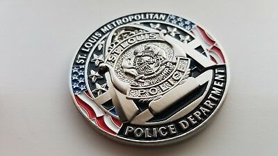 St Louis Police First District Challenge coin