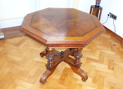 Large Heavy Gründerzeit Era Table with Detachable Table Top