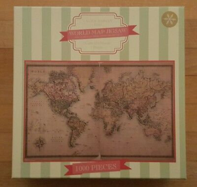 Laura ashley 1000 piece jigsaw puzzle vintage world map 500 laura ashley world map jigsaw 1000 pieces gumiabroncs Images