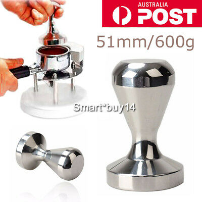 51MM Coffee Tamper Stainless Steel Polished Tampa Tamp Espresso Barista OZ