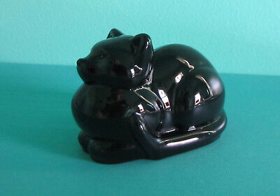Vintage Black Glass Cat Figurine (Special Gifts By Hallmark Crowning Touch) 1985