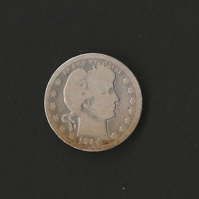 1914 Barber Quarter Silver Coin