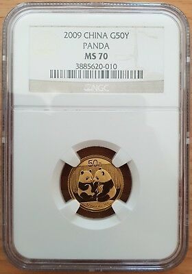 China Panda 2009 G50Y Small Date NGC MS70 - 1/10 oz Gold Coin *PERFECT*