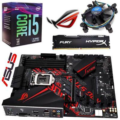 PC Aufrüst Kit • Intel i5 8400 Box • ASUS ROG STRIX B360-H GAMING • 8GB HyperX