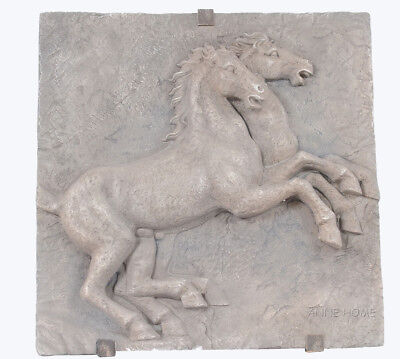 "Large Horse Wall Art Sculpture Plaque 29"" Country Western Hanging Home Decor New"