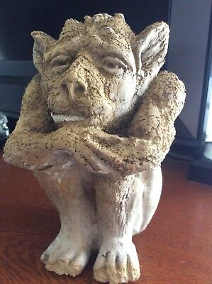 Ancient French Medieval Hand Carved Stone Gargoyle Figure 14th  C AD