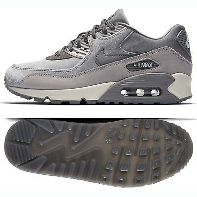 best sneakers 4a183 72463 Nike WMNS Air Max 90 LX 898512-007 Gunsmoke Grey Atmosphere Suede Women s  Shoes