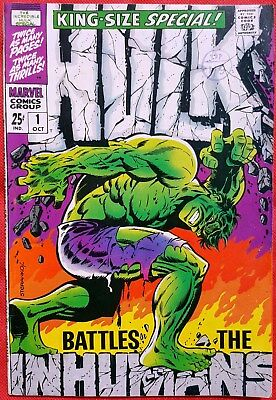 HULK 1 KINGSIZE SPECIAL MARVEL SILVER AGE 1968 Iconic cover by Jim Steranko