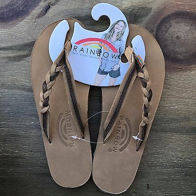 fb60377b4ddd2c Women Rainbow Sandals Flirty Braidy Sierra Brown Expresso Strap Premier  Leather