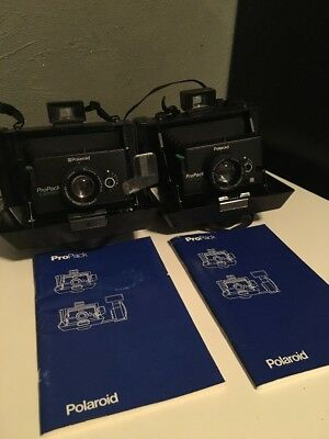 Lot of 2 Vintage Polaroid ProPack Cameras UNTESTED SOLD AS-IS FOR PARTS REPAIR