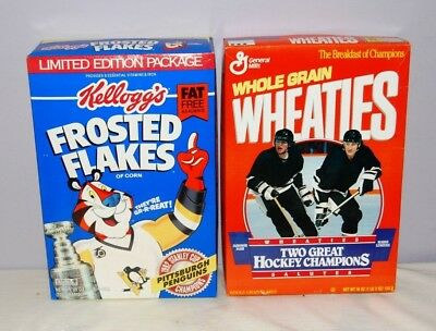 Vintage Pittsburgh Penguins Un-opend 1992 Cereal Boxes