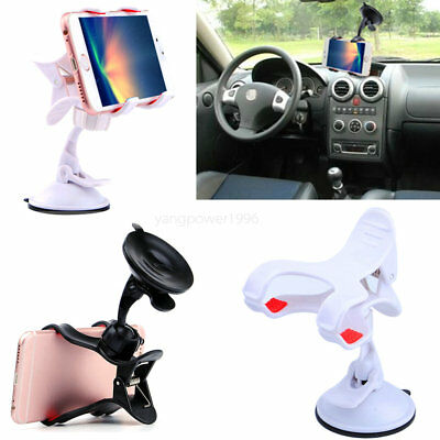 Hot White -YP249 360° Car Windscreen Flip Holder Stand For Cell Phone GPS HuaWei