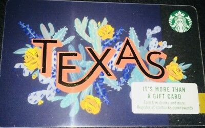 2018 Starbucks Card Texas State City Collectible New