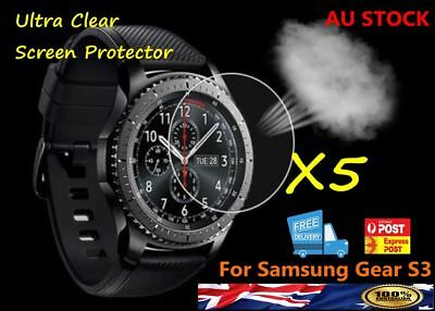 5x Genuine Tempered Screen Protector Anti-Explosion HD for Samsung Gear S3