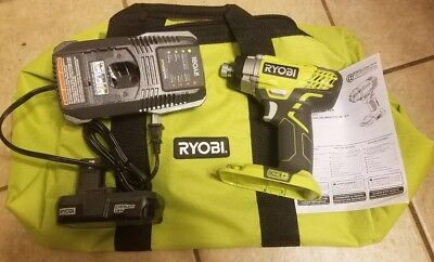 New Ryobi P236A 18V Impact Driver, New P118 Charger, New Bag, and Used Battery