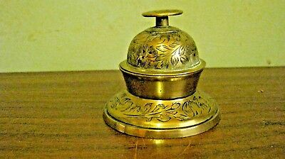 Vintage India Brass Cage Bell With Stand