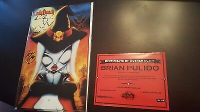 Lady Death #1 Necromancer Edition Signed By Delaney & Pulido W/coa Ltd To 66