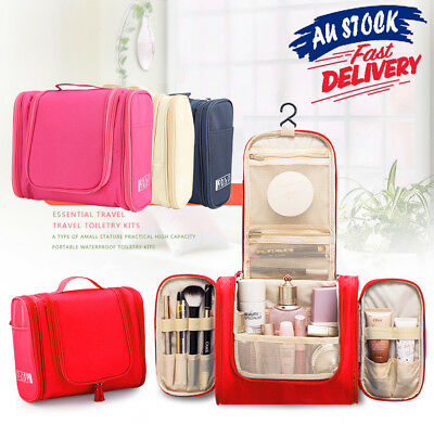 Makeup Bag Travel Cosmetic Toiletry Case Hanging Storage Large Bag Organizer