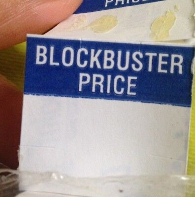 Blockbuster Video Price Sticker tags labels roll NOS 90s Video Store