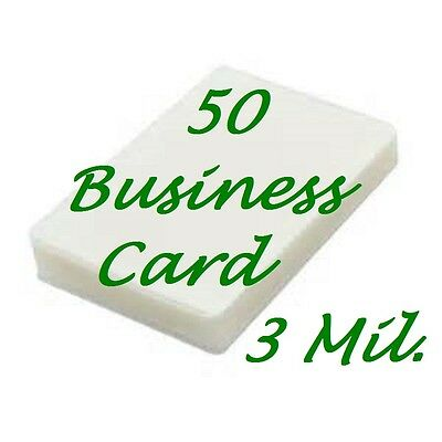 50pk Business Card Laminating Pouches Sheets 2-1/4 x 3-3/4  3 Mil Scotch Quality