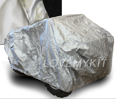 Heavy Duty Quad Bike ATV Cover 4 Wheel WaterProof Storage UV Protect Silver