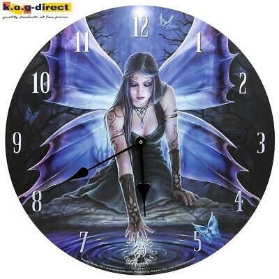 Original Anne Stokes Wall Clock Immortal Flight New In Box 34Cm