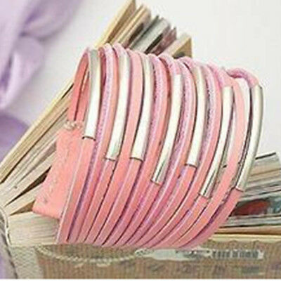 Bangle Leather Retro Multilayer Fashion Men Cuff Jewelry Accessories Bracelet