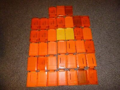 Huge Nerf - Lot of 38 - 6 Max Round Dart Gun Ammo Clip Magazines - Used -