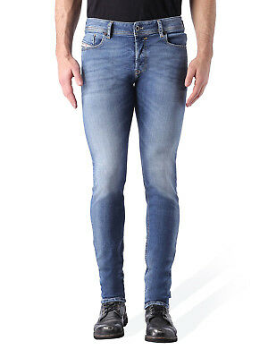 78650bfb DIESEL MEN'S BLUE Sleenker 084be Slim Skinny Stretch Jeans DL2 ...