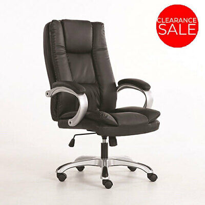 New Office Chair Executive Oxford Premium PU Faux Leather Computer Work Seat