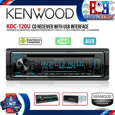 Kenwood KDC-120U CD Headunit with USB & Android Support