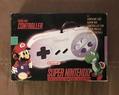 Official Super Nintendo Snes Controller In Original Box! Works Great! Authentic!