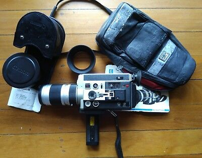 Vintage Canon 1014 Electronic Super 8mm Movie Camera + Canon 1.4x Tele Converter