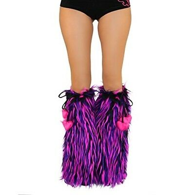 Used Pink/purple Gogo Fluffies Rave Festival Cheshire Cat Tie Around Iheartraves