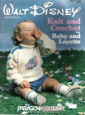 Walt Disney Knit and Crochet for Baby and Layette Pattern Book