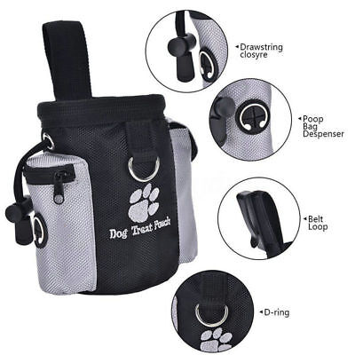 Pet Dog Puppy Training Treat Snack Bag Pouch Storage Holder Dispenser With Clip