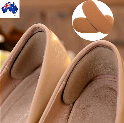 1 Pair Sticky Fabric Shoe Back Heel Inserts Insoles Pads Cushion Liner Grips