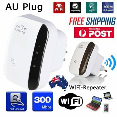 300Mbps Wireless WiFi Repeater Signal Amplifier Signal Boosters Repetidor WPS AU