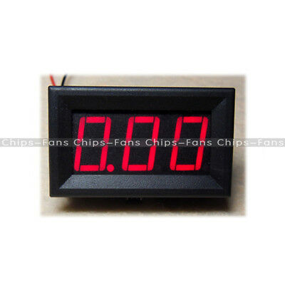 DC 0 To 10A Red LED Panel Meter Mini Digital Ammeter New