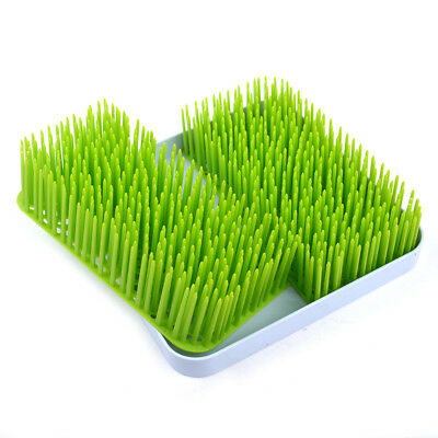Simulation Plastic Lawn Grass Countertop Baby Bottle Utensils Dish Drying Rack