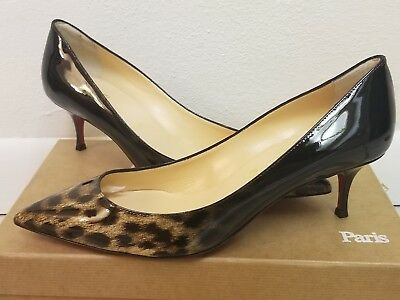 pretty nice 9fa8e f5025 CHRISTIAN LOUBOUTIN PIGALLE FOLLIES SHOES 55mm DEGRADE LEOP HEELS 38