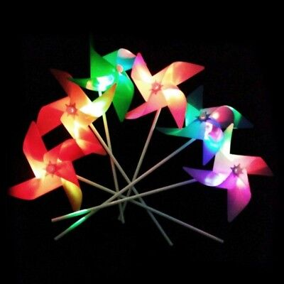 Glowing Windmill Wind Spinner Yard Garden Ornaments Decor Kids Toys Outdoor Gift