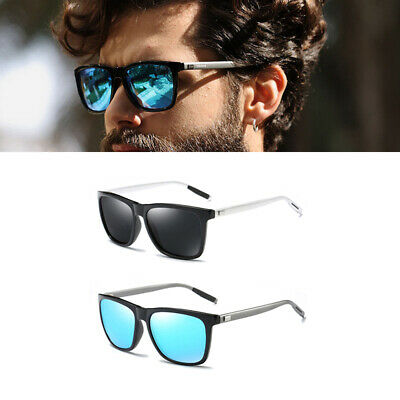 Fashion Shades Retro Mens Sunglasses Polarized Driving Aviator Anti-UV Eyewear